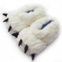 Тапочки в виде лап Белого цвета