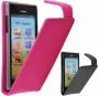 Кожаный чехол для Huawei U9200 Ascend P1 черный и розовый цвета