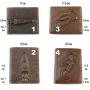 Кожаный мужской кошелек портмоне Крокодил и Скорпион 4 вида