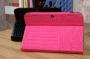 Кожаный чехол для Lenovo a2109 a2109a крокодил черный и розовый