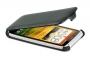 Кожаный чехол вертикальный HTC One X черный Наложенным платежом