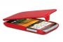 Кожаный чехол вертикальный HTC Desire V красный Наложенным платежом