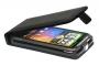 Кожаный чехол вертикальный HTC Desire HD черный Наложенным платежом