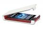 Кожаный чехол вертикальный Sony Xperia sola MT27i белый Наложенным платежом
