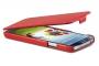 Кожаный чехол вертикальный Samsung i9500 Galaxy S4 красный Наложенным платежом