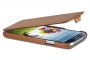 Кожаный чехол вертикальный Samsung i9500 Galaxy S4 коричневый Наложенным платежом