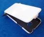 Кожаный чехол вертикальный HTC One белый Наложенным платежом