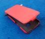 Кожаный чехол вертикальный HTC One красный Наложенным платежом