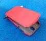 Кожаный чехол вертикальный HTC One SV красный Наложенным платежом