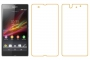Защитная пленка для Sony Xperia Z передняя и задняя глянцевые Наложенным платежом