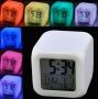 Цифровые часы будильник с термометром в форме куба с подсветкой