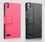 Кожаный чехол для Huawei Ascend P6 с окном 2 цвета