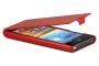 Кожаный чехол вертикальный LG P705 P700 Optimus L7 красный Наложенным платежом