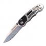 Складной нож Ganzo G718 Серебристый 440C (58-60 HRC) + Подарок Чехол на ремень